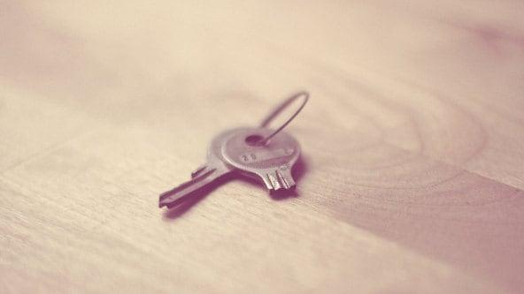 gebroken sleutel